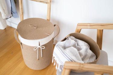 【洗濯】服を畳みたくない日はオシャレなランドリーバケットに突っ込んで!